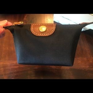 Longchamp black coin purse